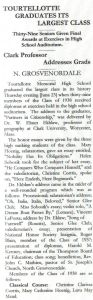 1938 News Article TMHS Graduation