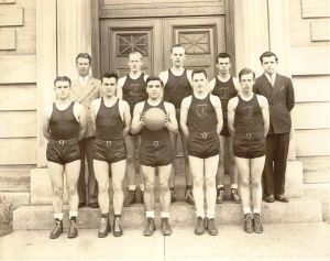 1944 Boys Basketball Unknown Year Henry Beaulac Right Front