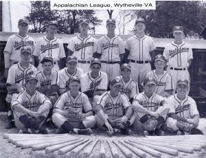 1950 Baseball Christy Carabina Appalachian Legue, Wytheville VA Compliments Of Christy \'50
