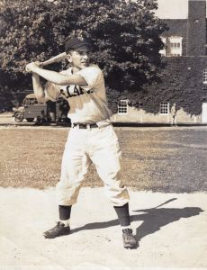 1950 Baseball Tom Tanacea Playing Ball At Suffix County AFB Circa 1952