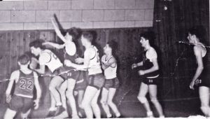 1950 Basketball Tom Tanacea Circa 1950 At The CPAC Tom Has The Ball Compliments Of The Tanacea Family
