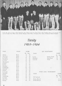 1965 Boys Basketball  7 Compliments Of Al Chandler '65