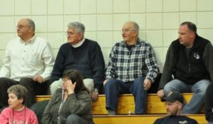 2011 TMHS The Old Guard At A Game - L-R Merrill Seney, Jim Naum, Nick Angelo, Tom Angelo - Compliments Of Justine Gendreau